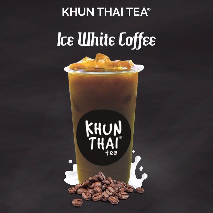 khun thai tea ice white coffee
