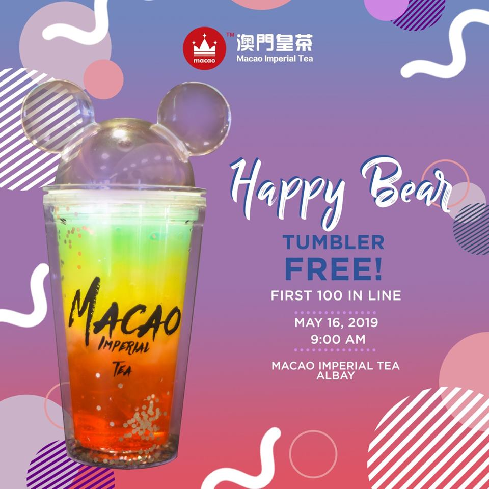 free tumbler at macao imperial tea albay
