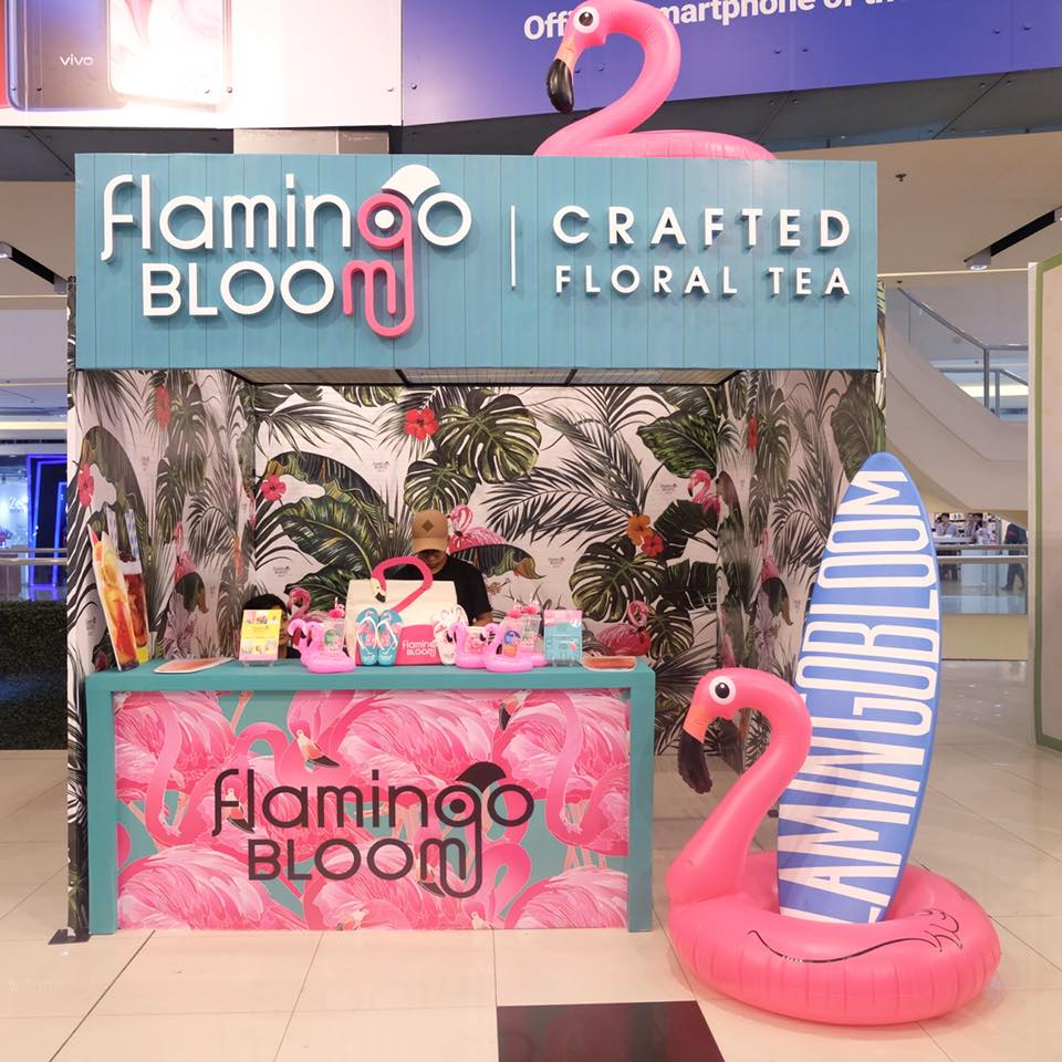 milk tea party at sm north edsa flamingo bloom