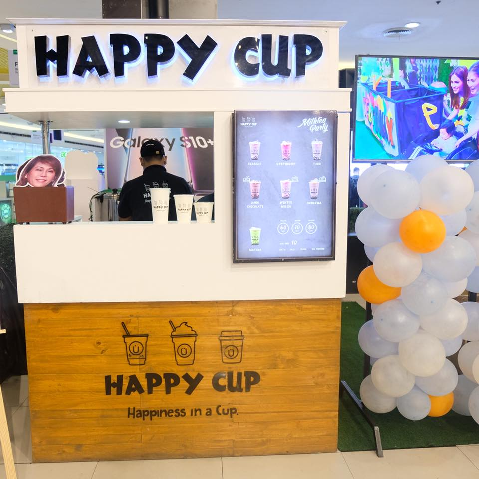 milk tea party at sm north edsa happy cup