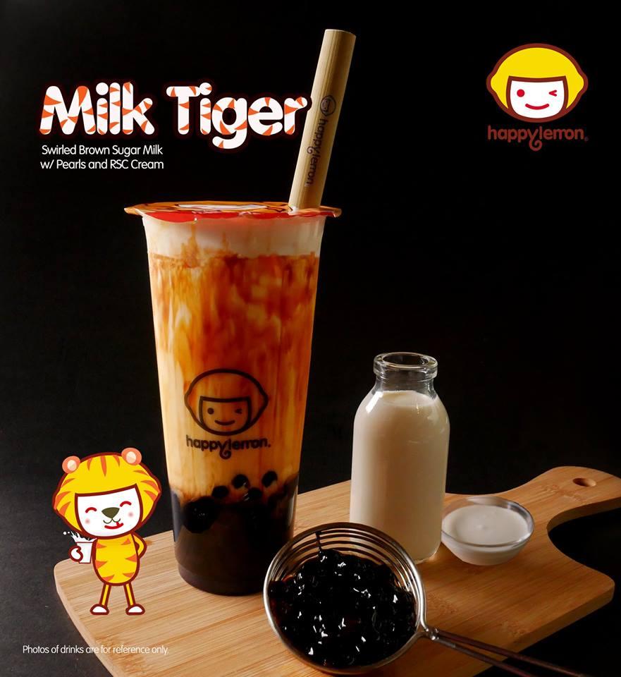 tiger milk tea happy lemon