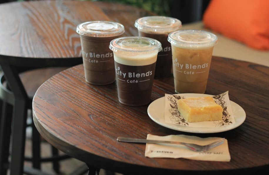 city blends cafe food and drinks