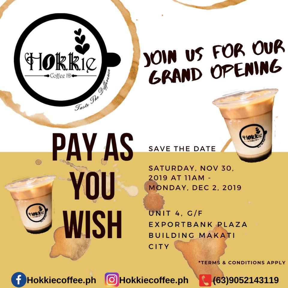 hokkie coffee grand opening