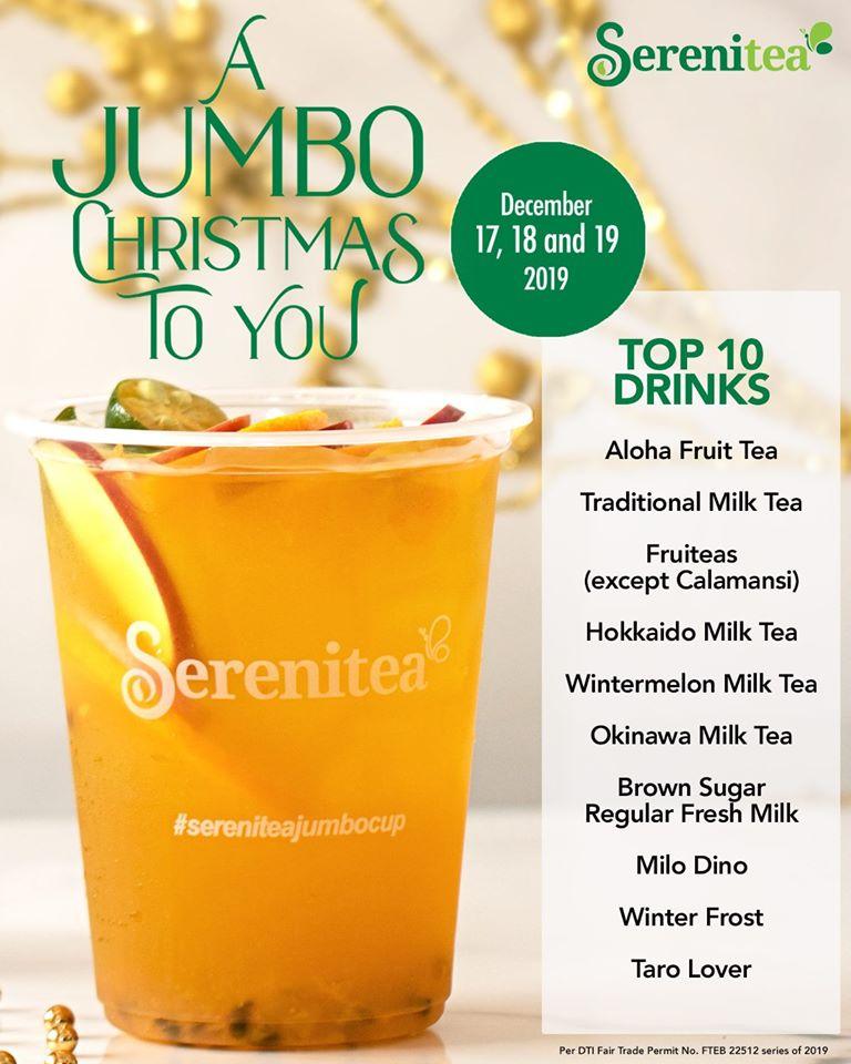 Serenitea Jumbo Cups Promo 2019