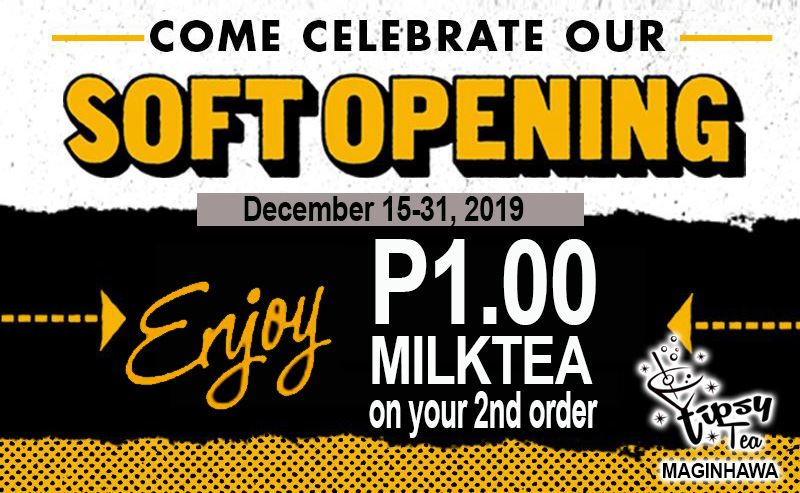 tipsy tea maginhawa street quezon city soft opening promo