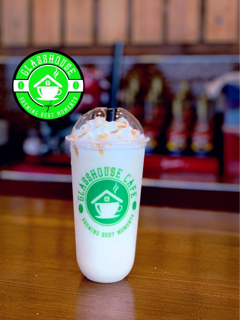 Glasshouse Cafe best seller Salted Caramel Frappe