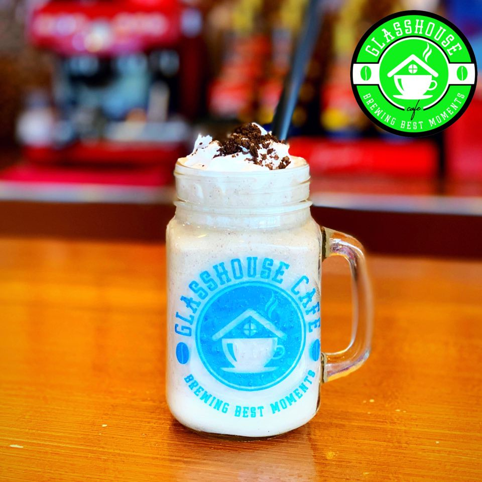 Glasshouse cafe best seller Oreo Cheesecake Frappe