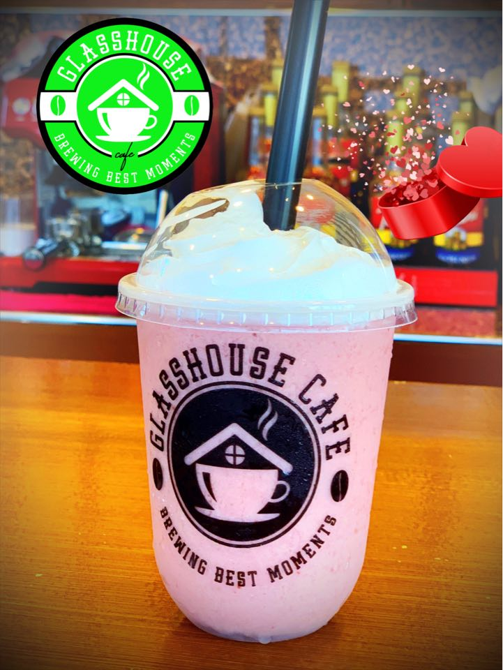 Glasshouse cafe best seller Yogurt Based Strawberry Smoothie