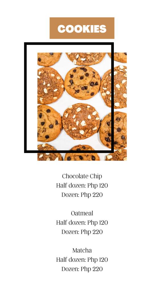Hip & Sip Cookies Menu