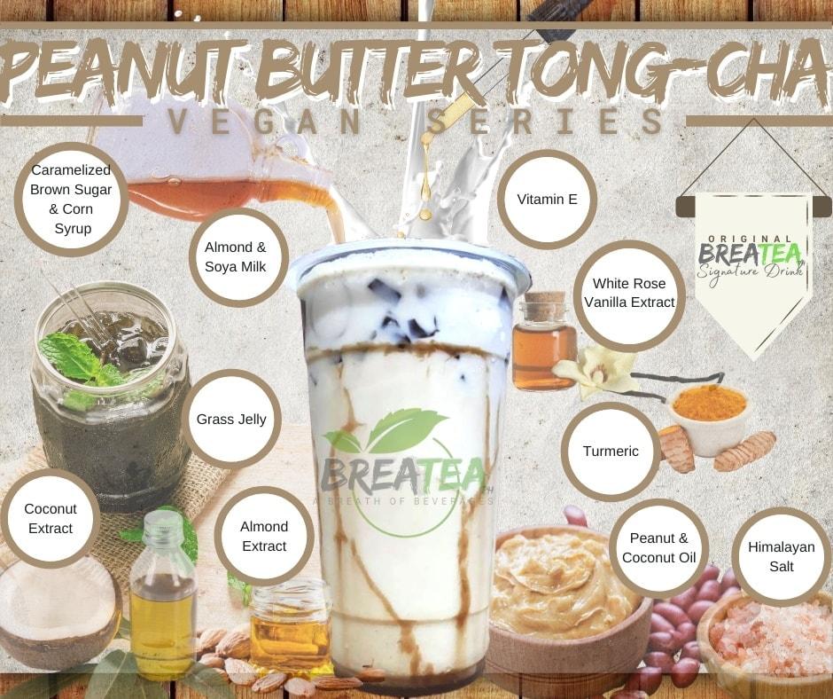 BreaTea Peanut Butter Tong Cha Vegan Series
