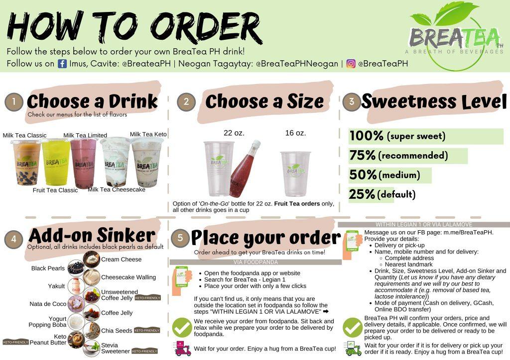 Breatea PH Menu How to Order
