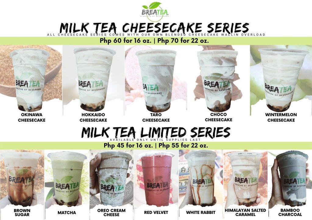 Breatea PH Menu Milk Tea Cheesecake