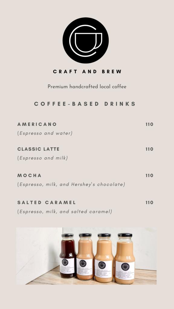 Craft and Brew Philippines Menu