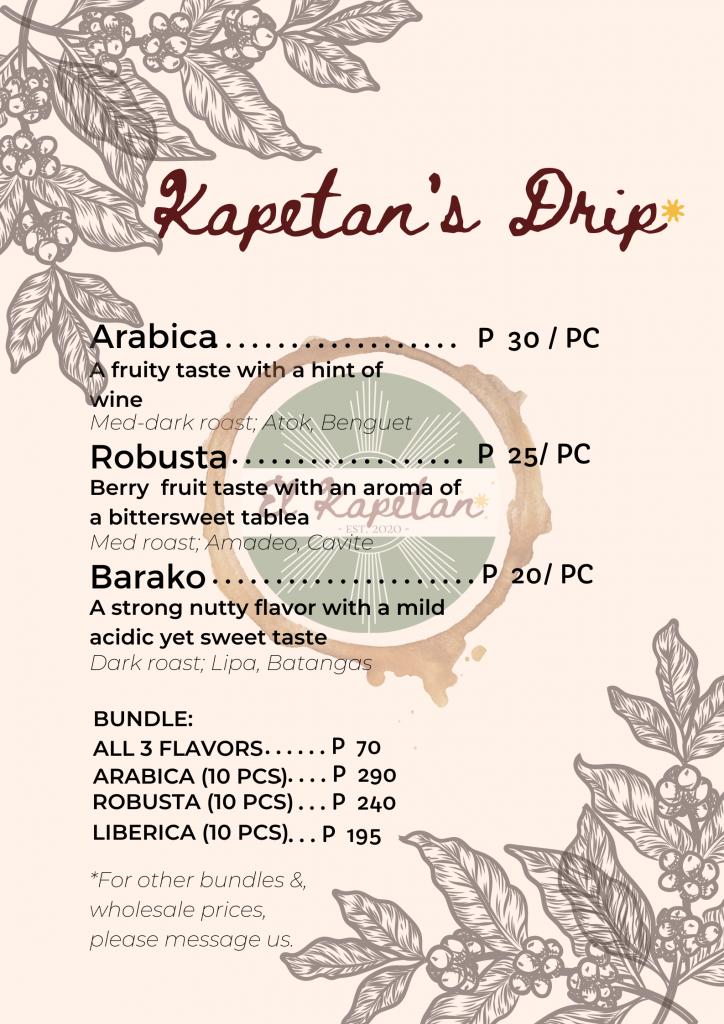 El Kapetan Coffee Trading Coffee Drip