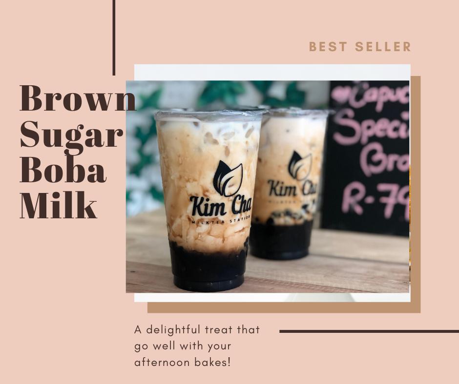 Kim Cha Milktea Station Brown Sugar Boba Milk
