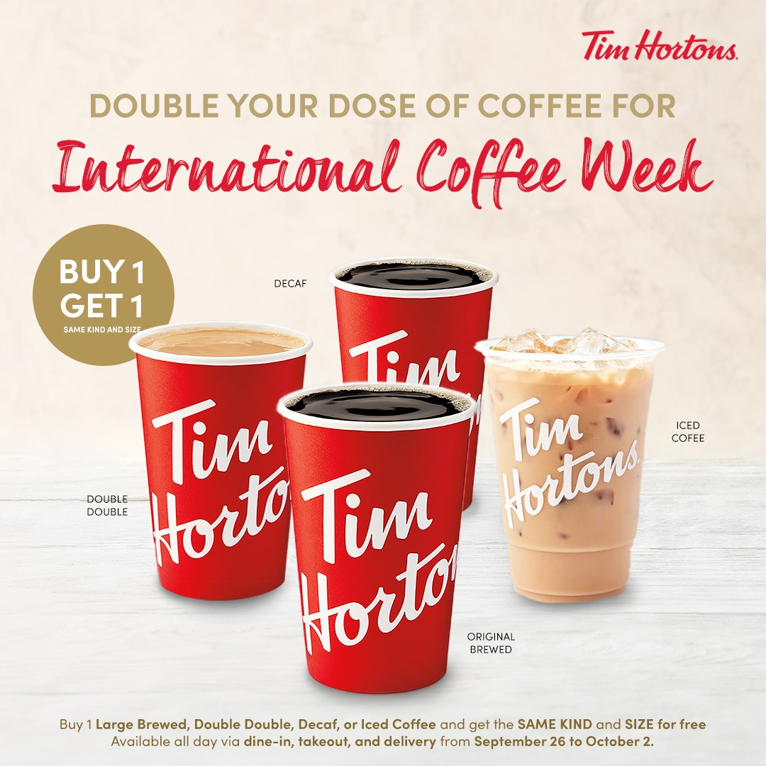 Tim Hortons Buy One Take One 2020 Promo