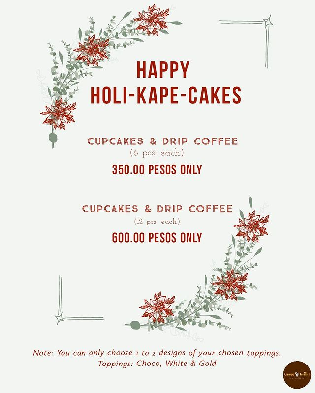 Grace & Grind Holiday Menu
