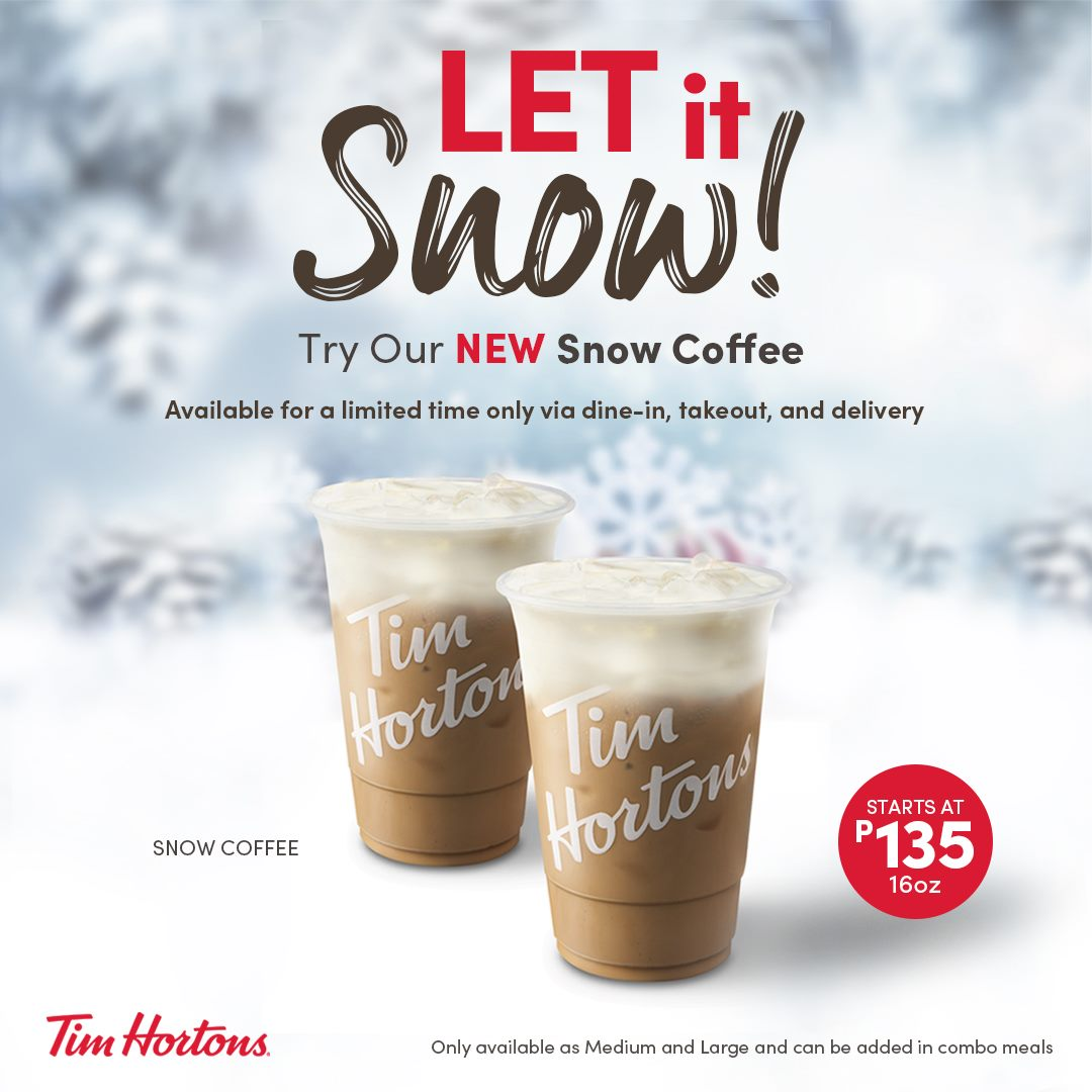 Tim Hortons Snow Coffee Philippines