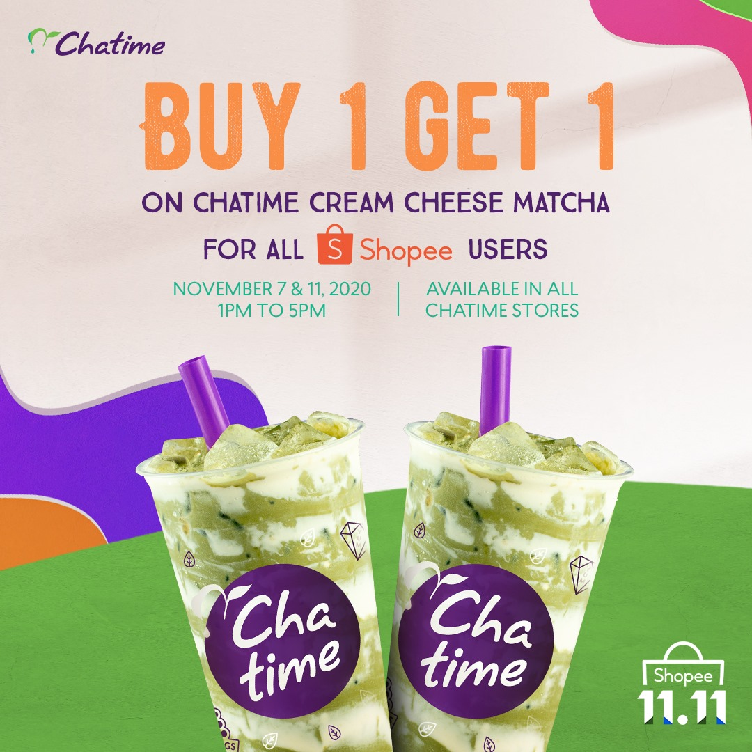 Chatime Buy 1 Get 1 Cream Cheese Matcha