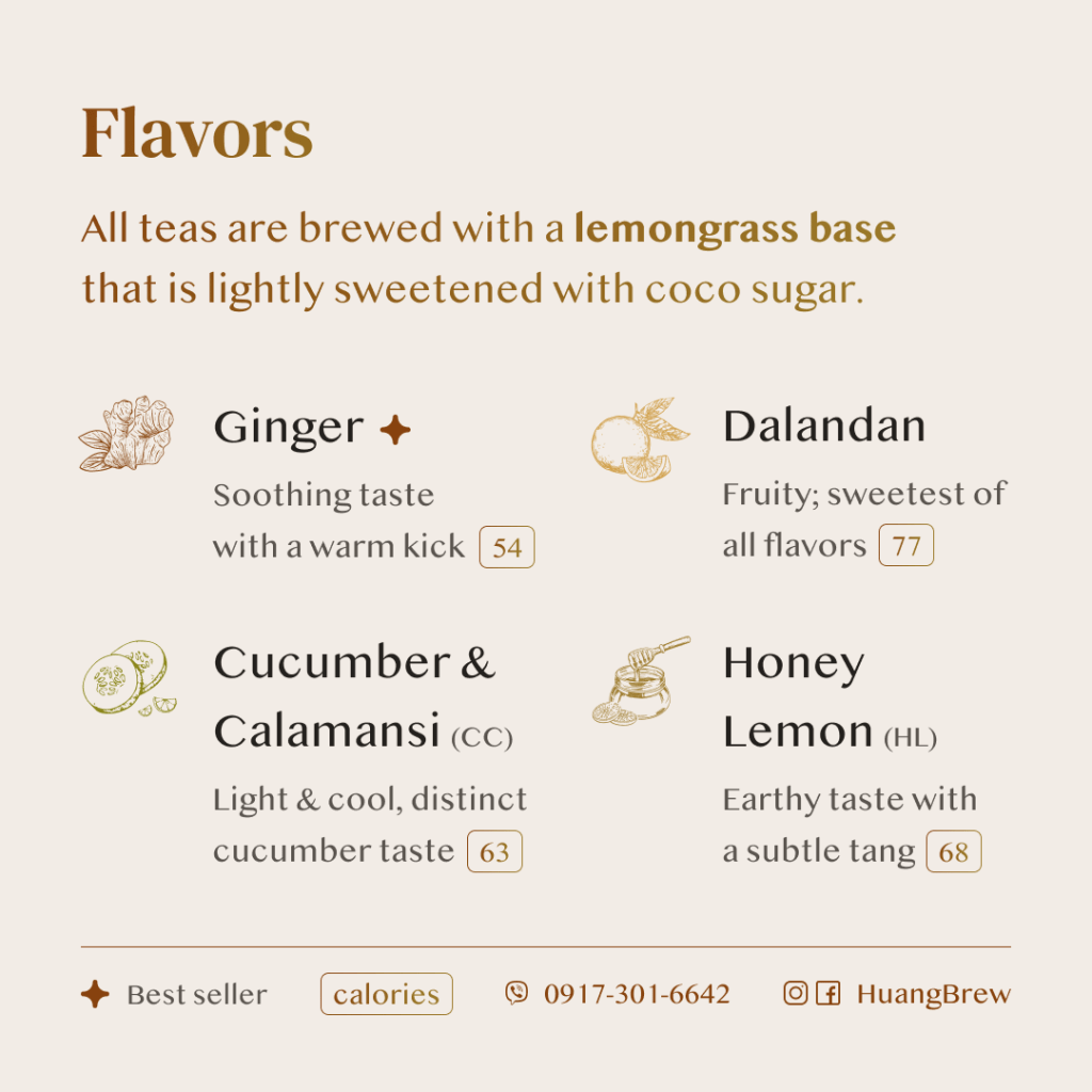 Huang Brew Flavors