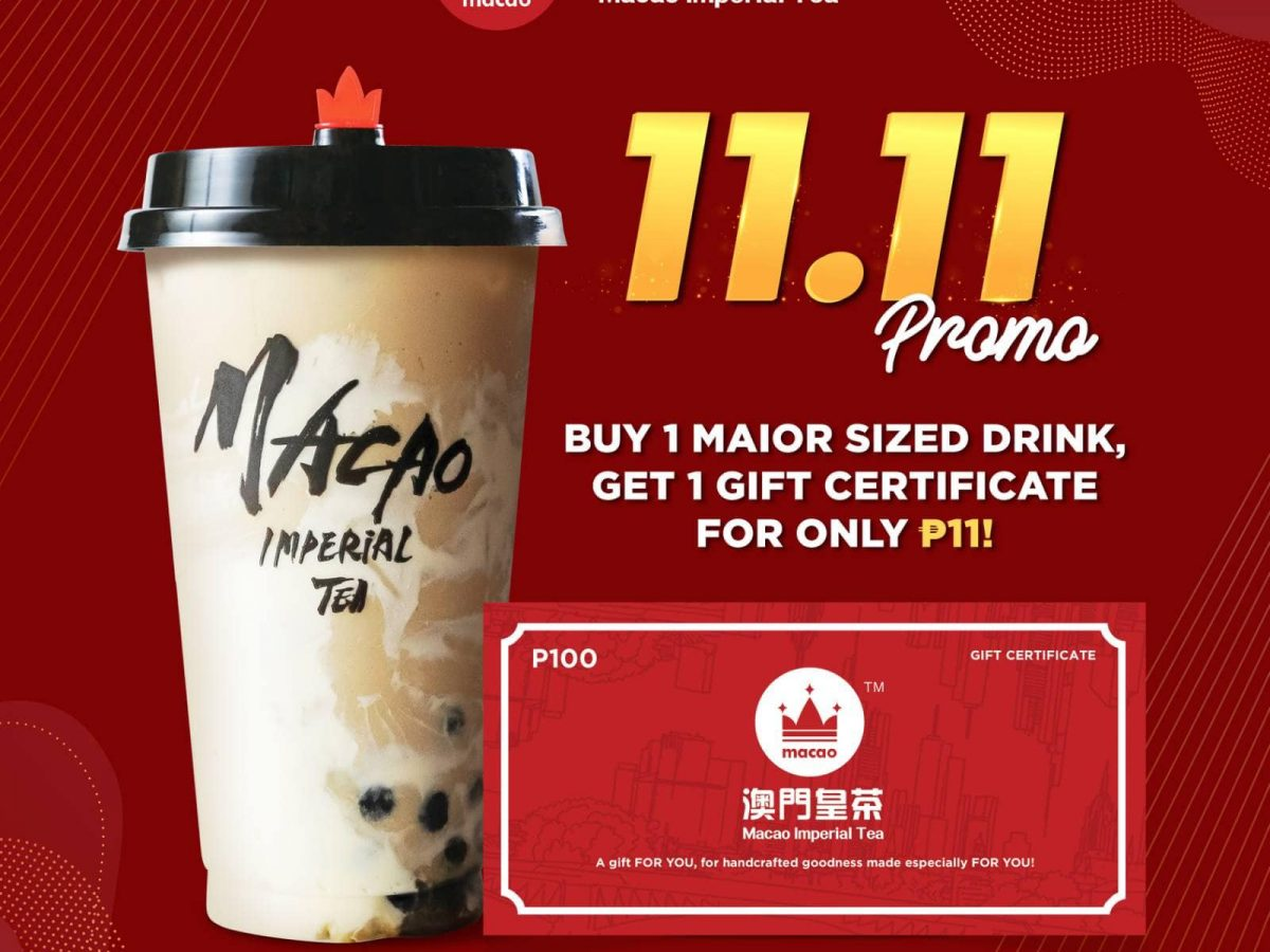 Macao Imperial Tea 11.11 Promo 2020