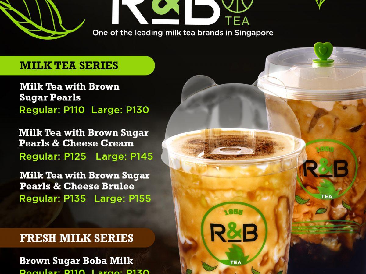 R&B Milk Tea Shakeys Menu
