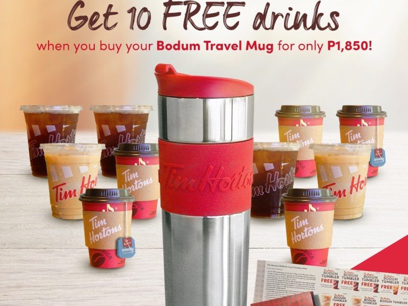 Tim Hortons Bodum Travel Mug Promo